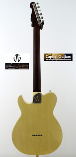 2013 Johan Gustavsson Fullerblaster On Piece Mahogany Neck, ThroBak, Wolfetone,TV Yellow