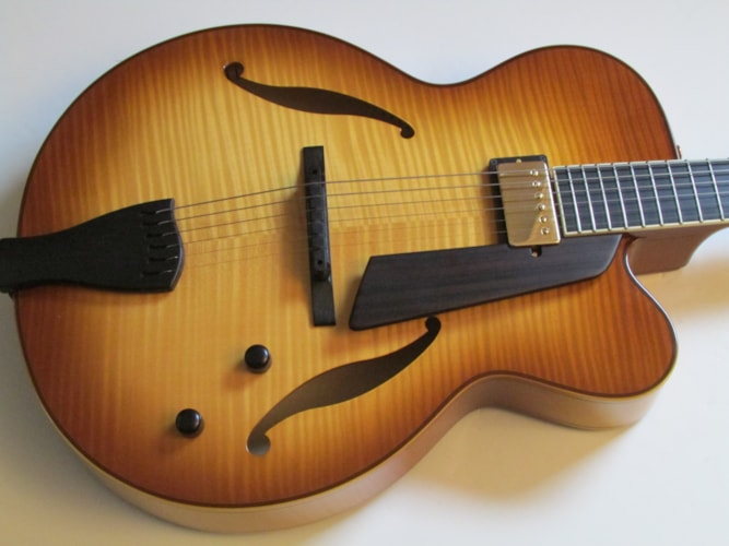 2013 Sadowsky Jim Hall Carmel Burst, Near Mint, Original Hard, Call For Price!