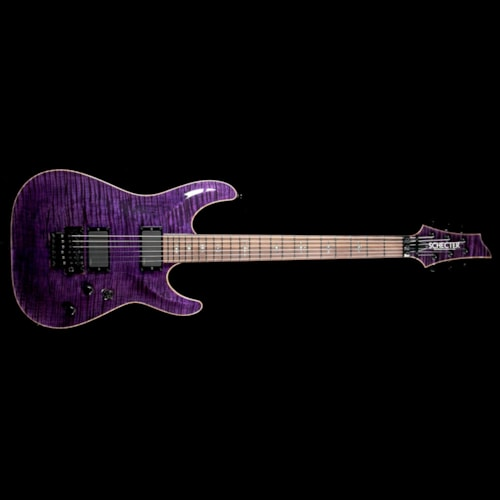 2013 SCHECTER Used 2013 Schecter USA Hollywood Classic Electric Guitar Black Violet Excellent, $1,799.00