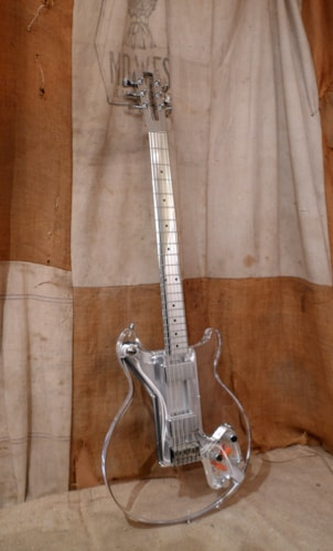 2014 EGC Electrical Guitar Company King Buzzo Lucite Baritone Lucite, Excellent, Original Hard, $2,750.00