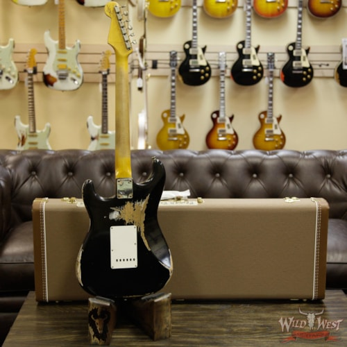 "2014 Fender 1962 Rosie ""V"" Stratocaster Heavy Relic Faded Black Preowned Faded Black, Brand New"