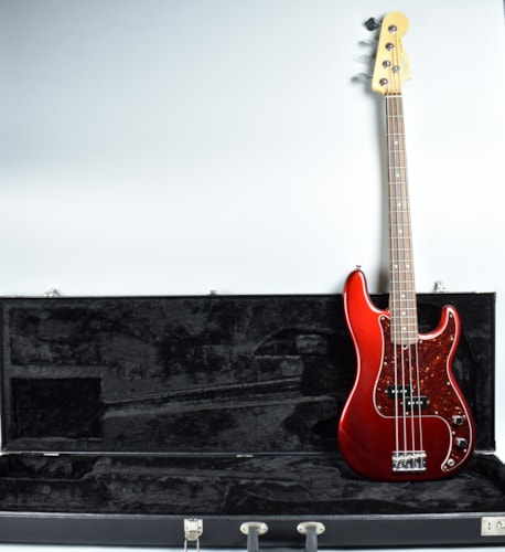 2014 Fender® American Standard Precision Bass® Mystic Red, Excellent, Original Hard, $995.00