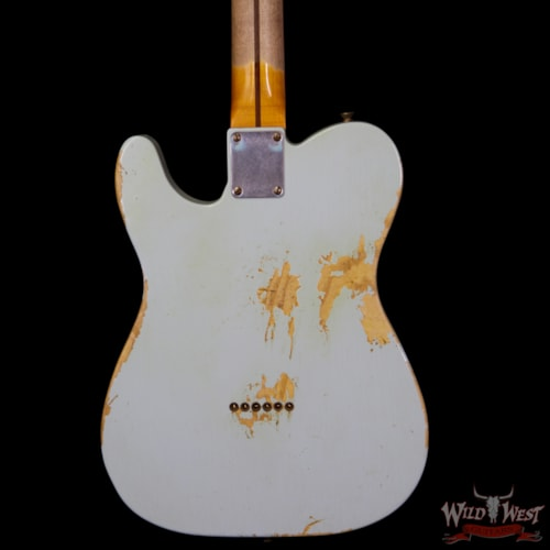 d51727f86c5 2014 Fender Custom Shop 1951 Nocaster Telecaster Heavy Relic Maple Neck ( 1951 Reissue) Sonic Blue, Brand New, Original Hard