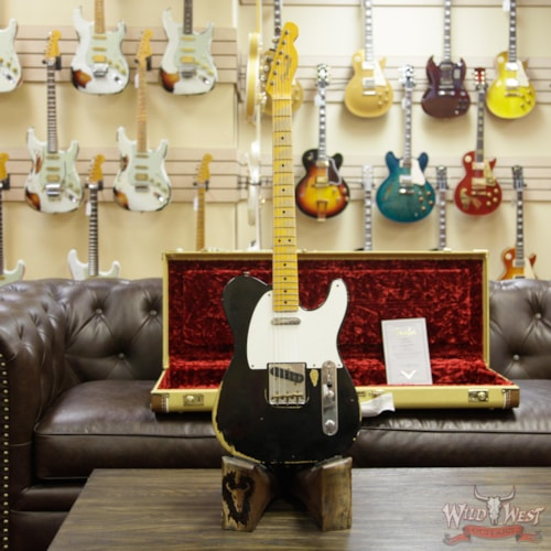 2014 Fender Custom Shop 1951 Nocaster Telecaster Heavy Relic Maple Neck (1951 Reissue) Faded Black, Brand New, Original Hard