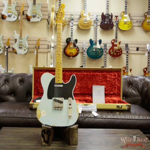 2014 Fender Custom Shop 1951 Nocaster Telecaster Heavy Relic Maple Neck (1951 Reissue) Sonic Blue, Brand New, Original Hard