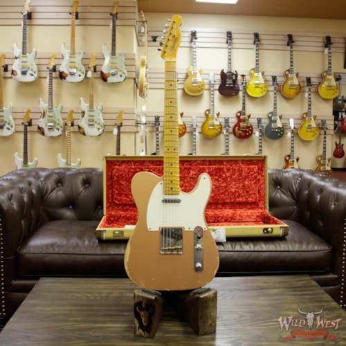 2014 Fender Custom Shop 1952 Telecaster Heavy Relic Maple Streamlined U Neck (1952 Reissue) Copper, Brand New, Original Hard, $3,299.00