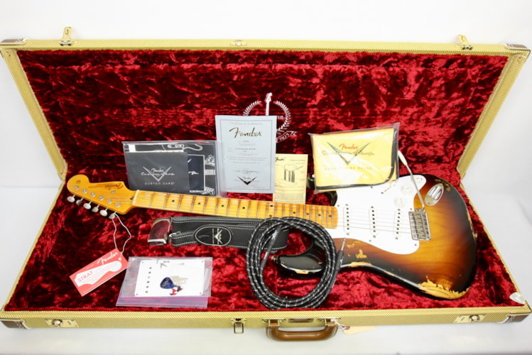 2014 Fender Custom Shop 1954 Stratocaster Anniversary Heavy Relic (1954 Reissue) Burst, Mint, Original Hard