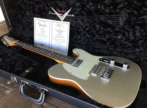2014 fender custom shop 2014 namm double tv jones telecaster relic
