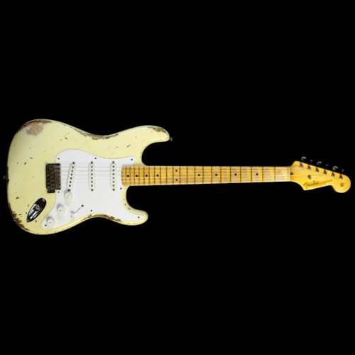 2014 Fender Custom Shop Used 2014 Fender Custom Shop 60th Anniversary 1954 Stratocaster Heavy Relic Electric Guitar Vintage White Excellent, $3,099.00