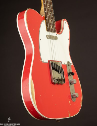 2014 Fender Custom Shop WW10 '62 Telecaster, Faded Fiesta Red Relic (USED, ) Red