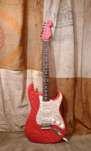 2014 Fender® Stratocaster® St62-ash/mh See Through Hot Pink, Excellent, GigBag, $975.00