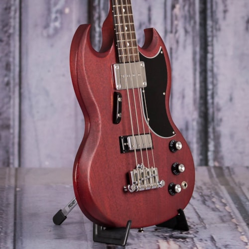 Used 2014 Gibson 120th Anniversary SG Bass, Faded Cherry
