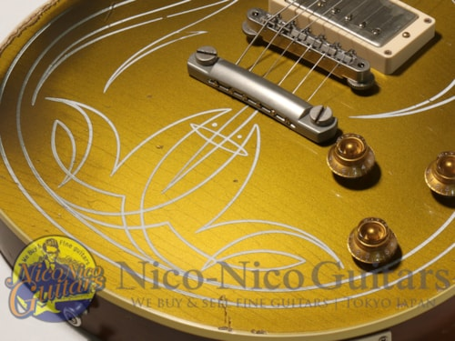 2014 Gibson Custom Shop Billy Gibbons 57 LP Gold Top Signed Aged Gold, Near Mint, Original Hard