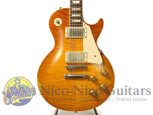 2014 Gibson Custom Shop Historic Collection 1959 Les Paul Heavily Aged Hand Selected Orange Sunset Fade