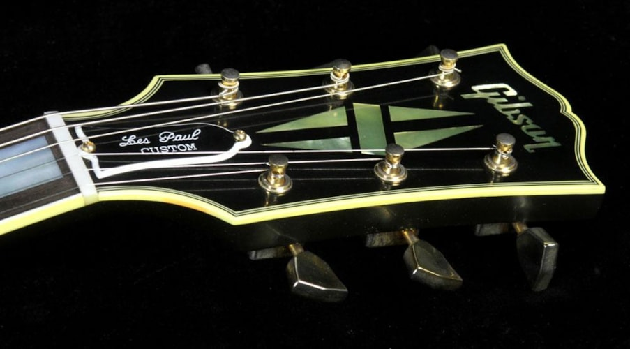 2014 Gibson Custom Shop Used 2014 Gibson Custom Shop Robby Krieger '54 Les Paul Custom Electric Guitar VOS Lamp Black