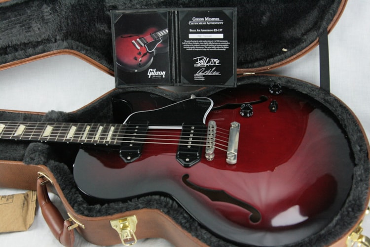 2014 Gibson ES-137 Billie Joe Armstrong Black Cherry! Limited Edition Excellent $1,750.00