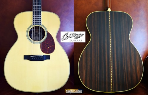 2015 Collings OM3GSS Varnish, European Spruce Top, Short Scale, Varnish Finish Option