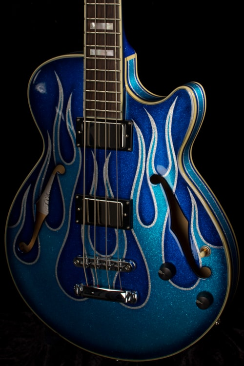 Dhl Customer Service Phone Number >> 2015 D'Angelico Art Deco Bass Blue Flame > Guitars Bass ...