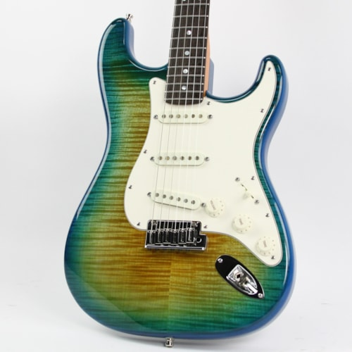 2015 Fender® Custom Shop American Custom Stratocaster® RW Flame Top Green Yellow Fade, Mint, Original Hard, $3,199.00