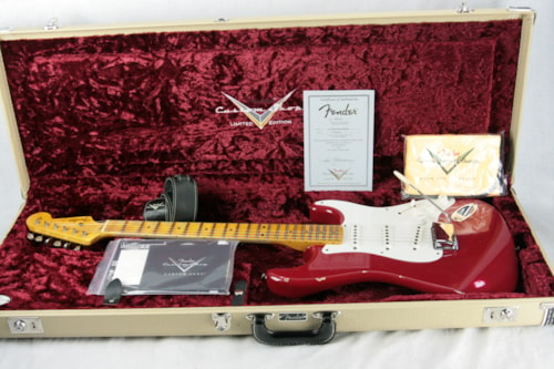 2015 Fender Custom Shop Limited Edition 1955 Stratocaster Relic! Torino Red! Ash Body