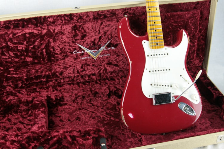 2015 Fender Custom Shop Limited Edition 1955 Stratocaster Relic! Torino Red! Ash Body Excellent $2,499.00