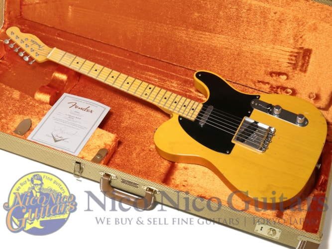 2015 Fender® Custom Shop Masterbuilt '52 Telecaster® Relic® by Jason Smith Vintage Natural, Excellent, Original Hard, Call For Price!