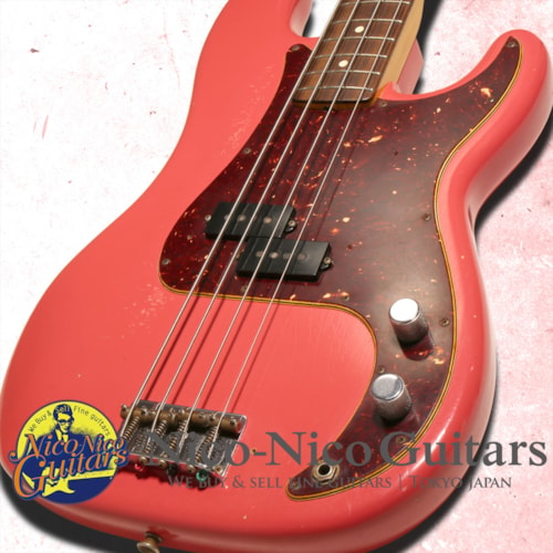 2015 Fender Custom Shop Pino Palladino Precision Bass Relic Fiesta Red, Excellent, Original Hard