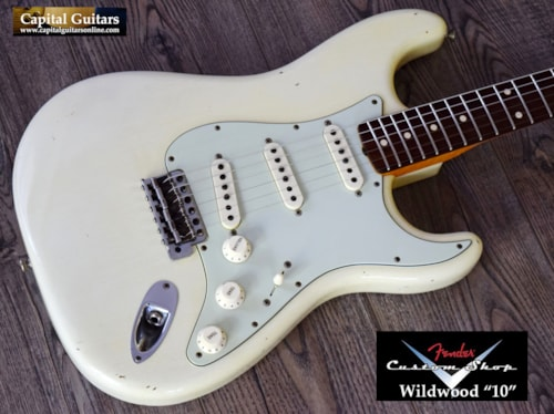 "2015 Fender Custom Shop ""Wildwood 10"" '61 Stratocaster Relic Aged Olympic White"
