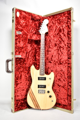"2015 Fender Limited Edition ""10 for '15"" Shortboard Mustang Natural Finish Electric Guitar w/OHSC"