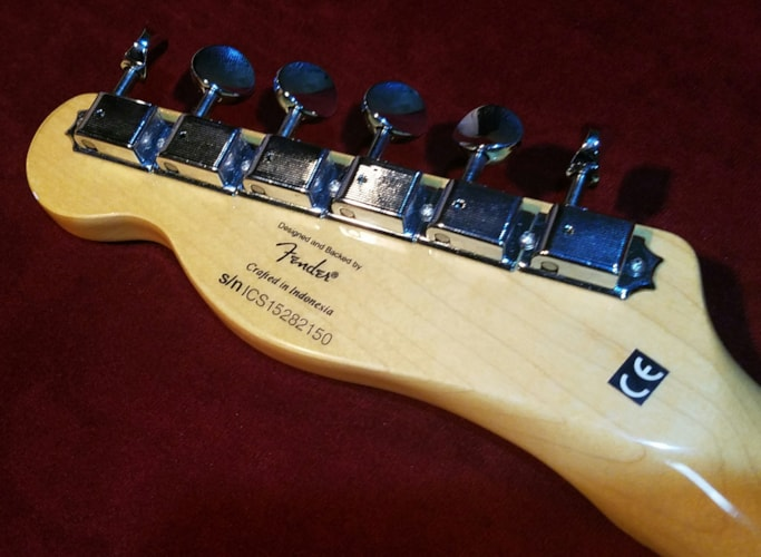 "2015 Fender Squier '72 Thinline Telecaster ""Vintage Modified"" Natural, Very Good, GigBag"