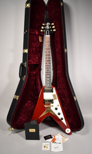 2015 Gibson Custom Shop Benchmark '59 Flying V Cherry Electric Guitar w/OHSC