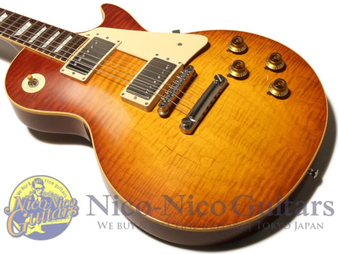 2015 Gibson Custom Shop Historic Select 1959 Les Paul Vintage Gloss Hand Selected New Orange Sunset Fade, Excellent, Original Hard, Call For Price!