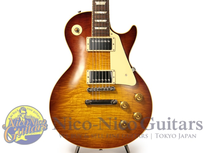 2015 Gibson Custom Shop Historic Select 1958 Les Paul Figured Vintage Gloss Hand Sel Slow Iced Tea Fade, Excellent, Original Hard