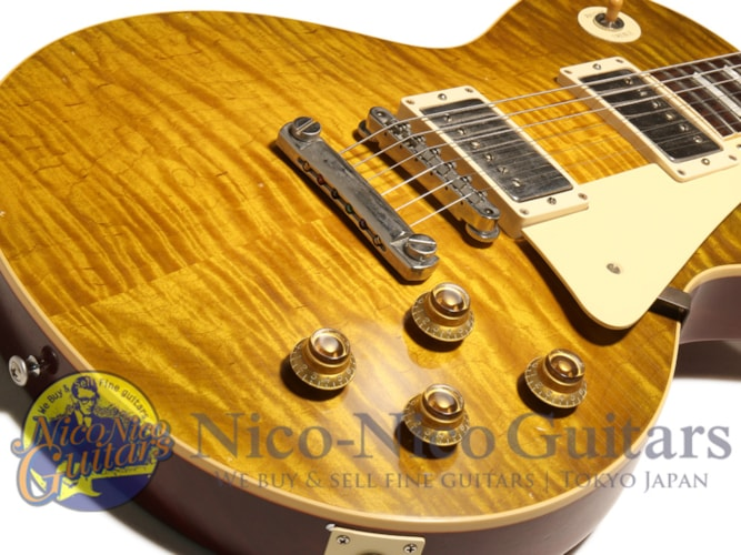 2015 Gibson Custom Shop Historic Select 1959 Les Paul Aged Hand Selected Green Lemon, Excellent, Original Hard
