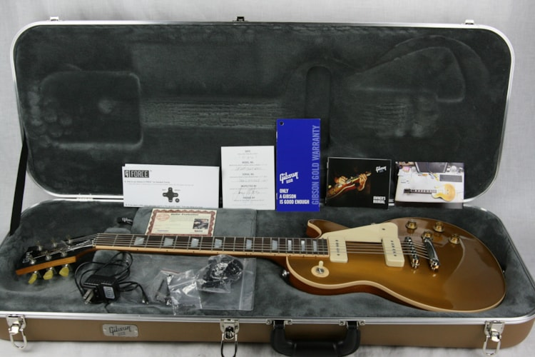 2015 Gibson Les Paul Less Plus Goldtop w/ P90 Pickups! Limited Edition Goldtop, Mint, Original Hard, $1,399.99