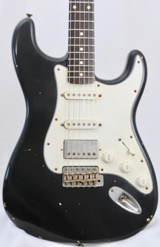 2015 Nash Super Strat Distressed Black