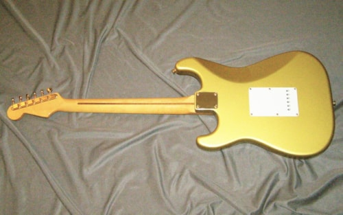 ~2016 Custom Build - Fender Parts-Licensed Wood Stratocaster (1956 reissue) GOLD on GOLD