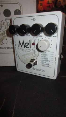 2016 Electro-Harmonix Mel 9 Mellotron Guitar Effect White, Brand New, Original Soft