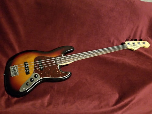 2016 Fender® American Standard Jazz Bass®, Fretless Sunburst, Excellent, Original Hard, $999.00