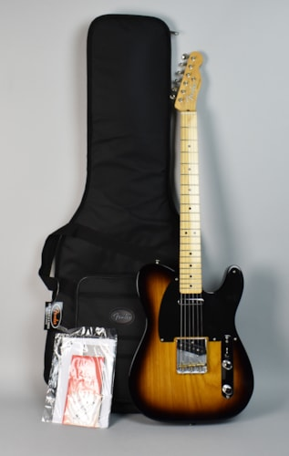 2016 Fender Classic Player Baja Telecaster 2 Color Sunburst, Brand New, Original Soft
