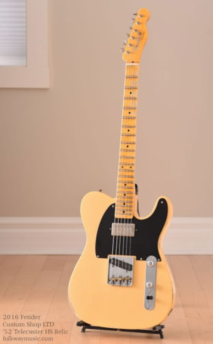 2016 Fender Custom Shop LTD '52 Telecaster HS Relic Excellent, Original Hard, $2,479.00