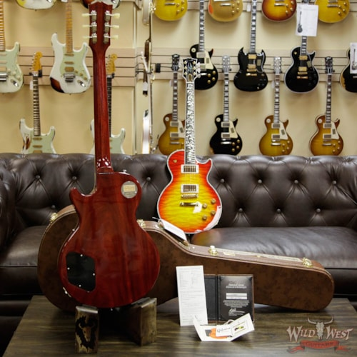 2016 Gibson 2016 Gibson Custom Shop Standard Historic Les Paul R8 1958 Gloss Flame Top Washed Cherry 8.85 Pounds Washed Cherry, Near Mint, $3,999.00