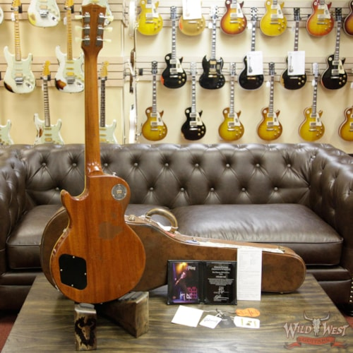2016 Gibson Custom Shop True Historic Rick Nielsen's 1959 Les Paul Replicated Aged Amber Burst Amber Burst, Near Mint, $7,999.00