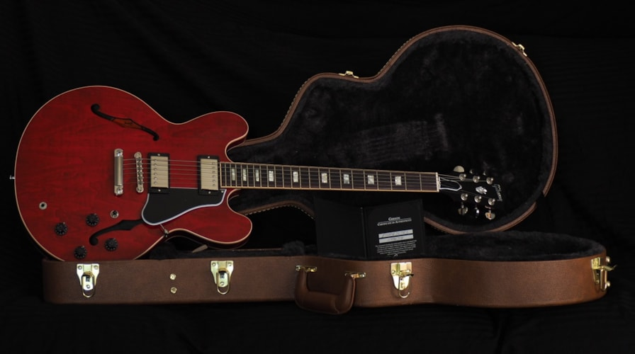 2016 Gibson ES-335  Faded Red Gloss, Mint, Hard
