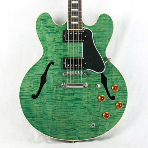 2016 Gibson ES-335 FIGURED Turquoise Limited Edition! Block inlays, Flametop! Memphis Excellent $2,499.00