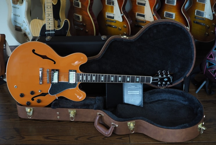 2016 Gibson Gibson Memphis ES-335 Awesome Trackpack Combo Tascam Orange  Orange Translucent, Mint, H