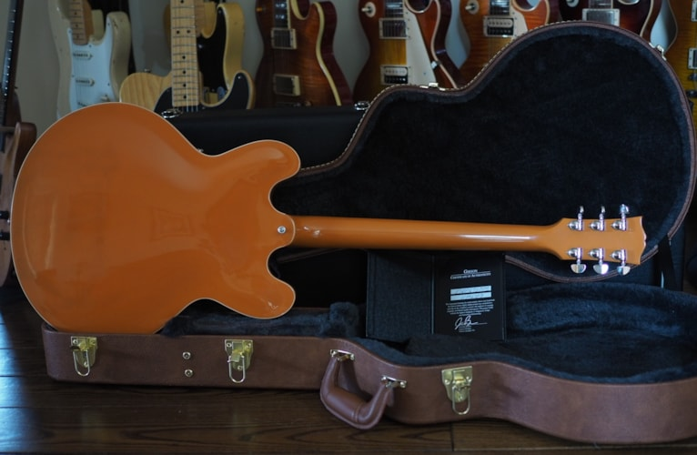 2016 Gibson Gibson Memphis ES-335 Awesome Trackpack Combo Tascam Orange  Orange Translucent, Mint, Hard