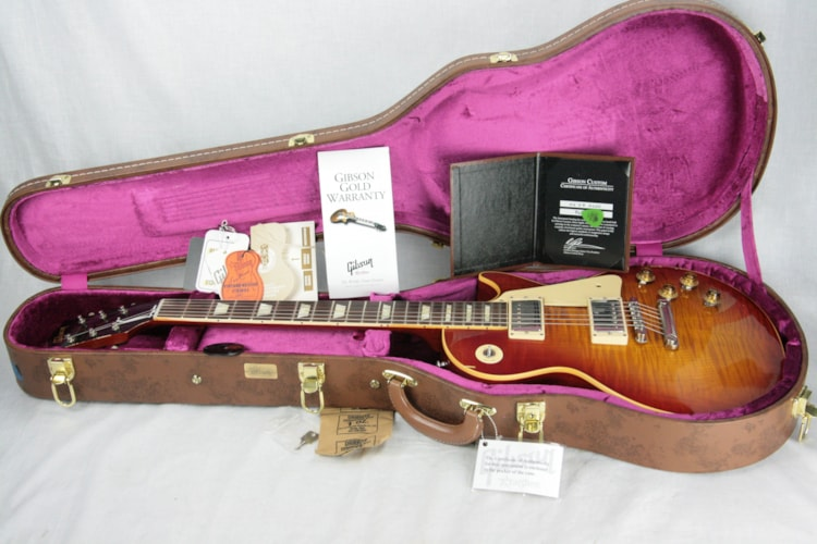 2016 Gibson True Historic Select 1959 BELIEVER BURST Reissue Les Paul Standard AGED 59 R9 Excellent $4,895.00