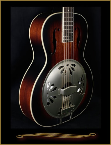 2016 Gretsch G9241 Alligator Biscuit Round-Neck Resonator Guitar 2-Color Sunburst, Brand New