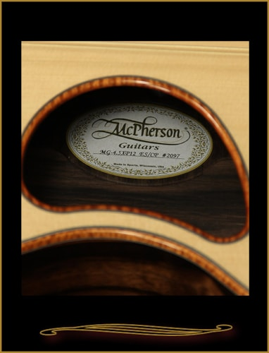 2016 McPherson MG-4.5XP 12 String in Striped Macassar Ebony with Port Orfor Natural, Brand New, Hard, $10,900.00